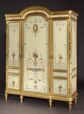 Butchoff Antiques, Painted Wardrobe constructed in mahogany in the Louis XVIth manner, circa 1890